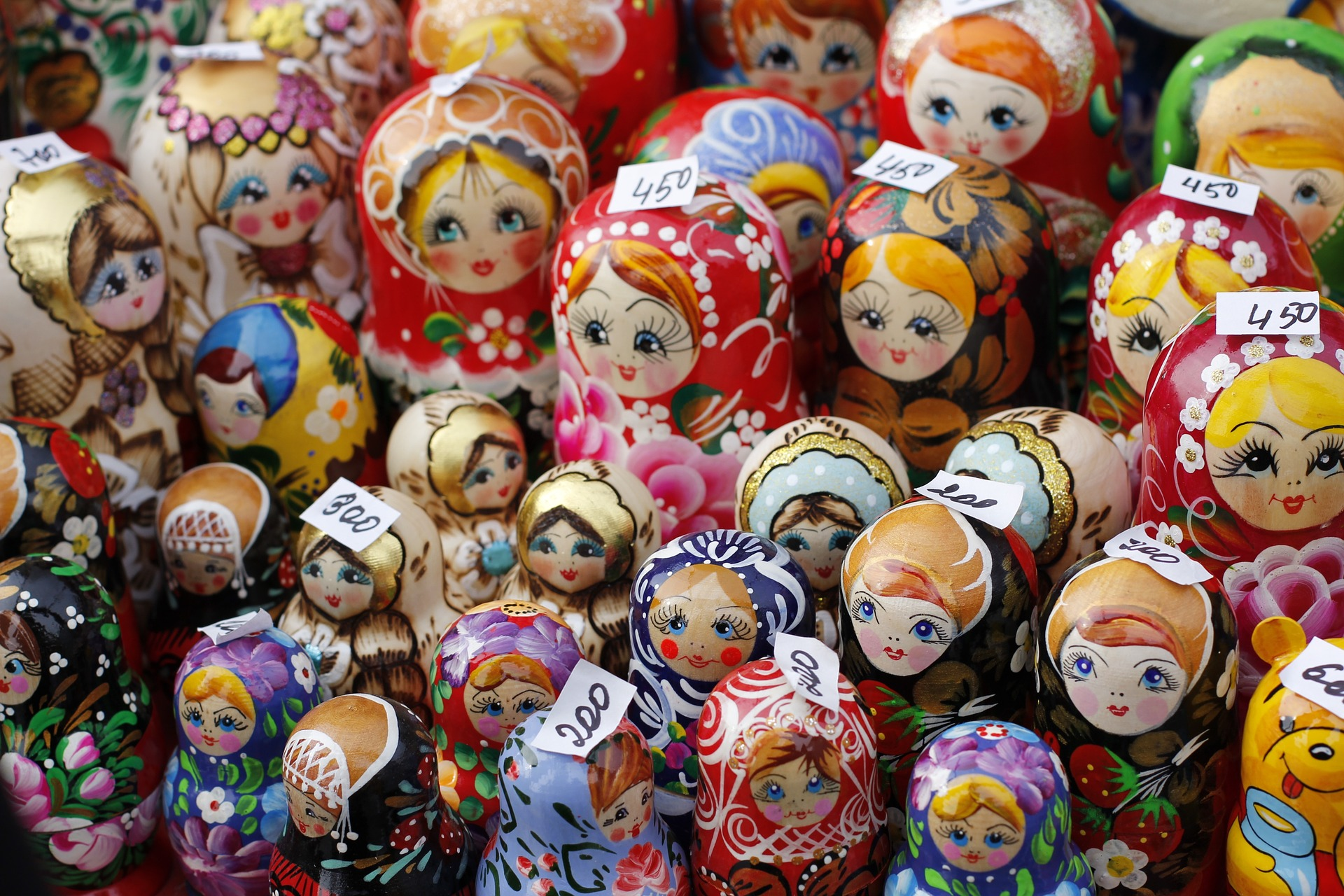 Matryoshka doll babushka in Moscow Russia