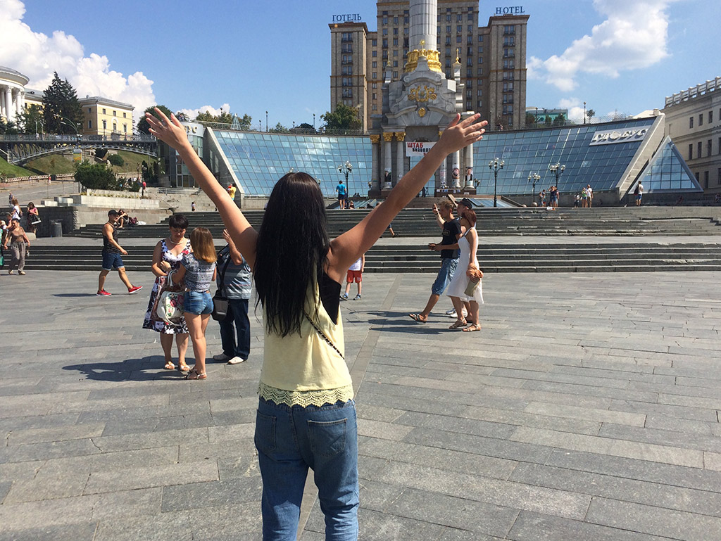 Independence Square in Kiev, Ukraine. MeetnGreetMe