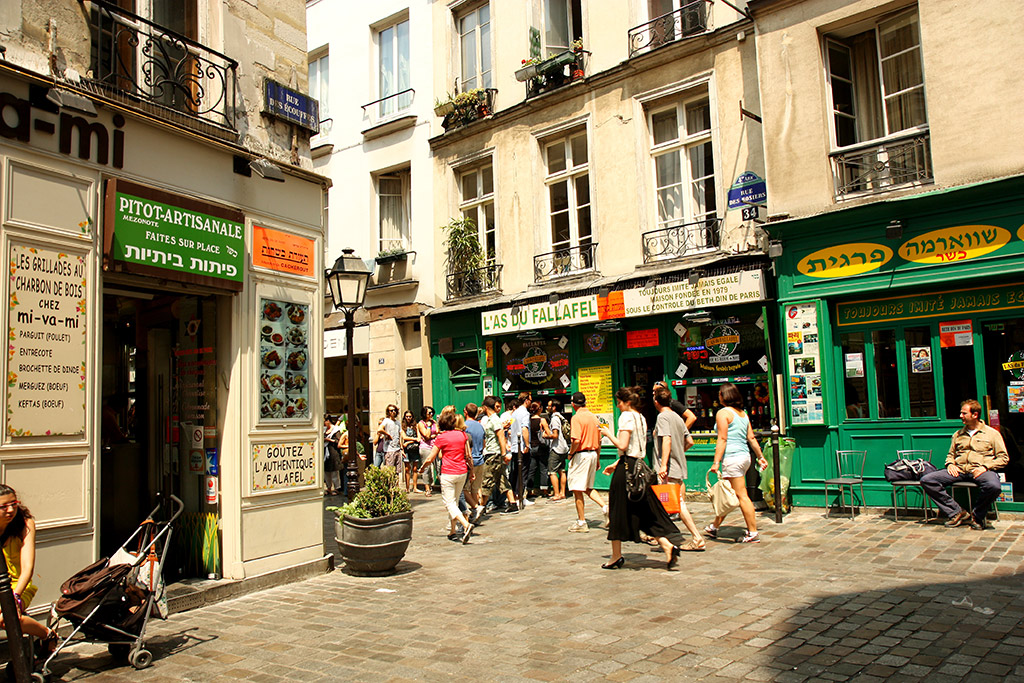 Le Marais in Paris, France. MeetnGreetMe
