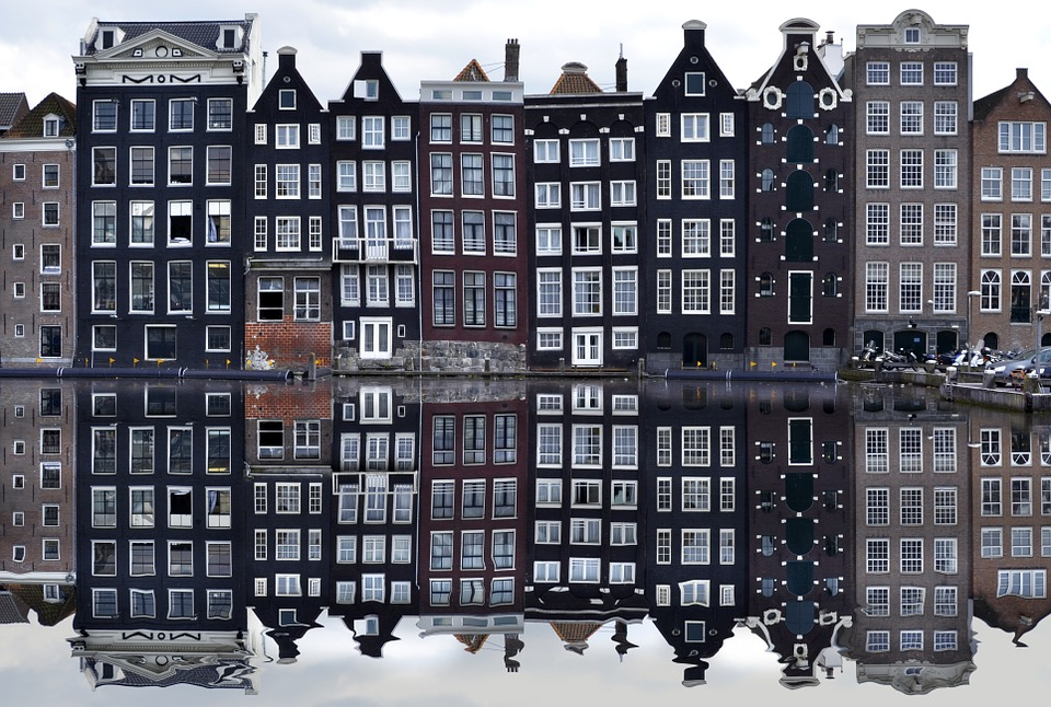 Amsterdam architecture - houses on canals