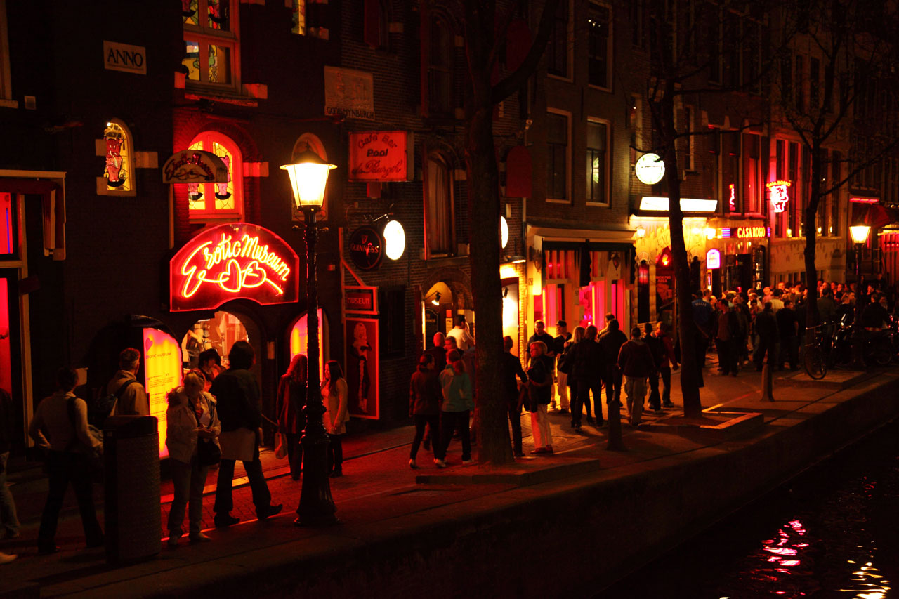 Red light district in Amsterdam, Netherlands
