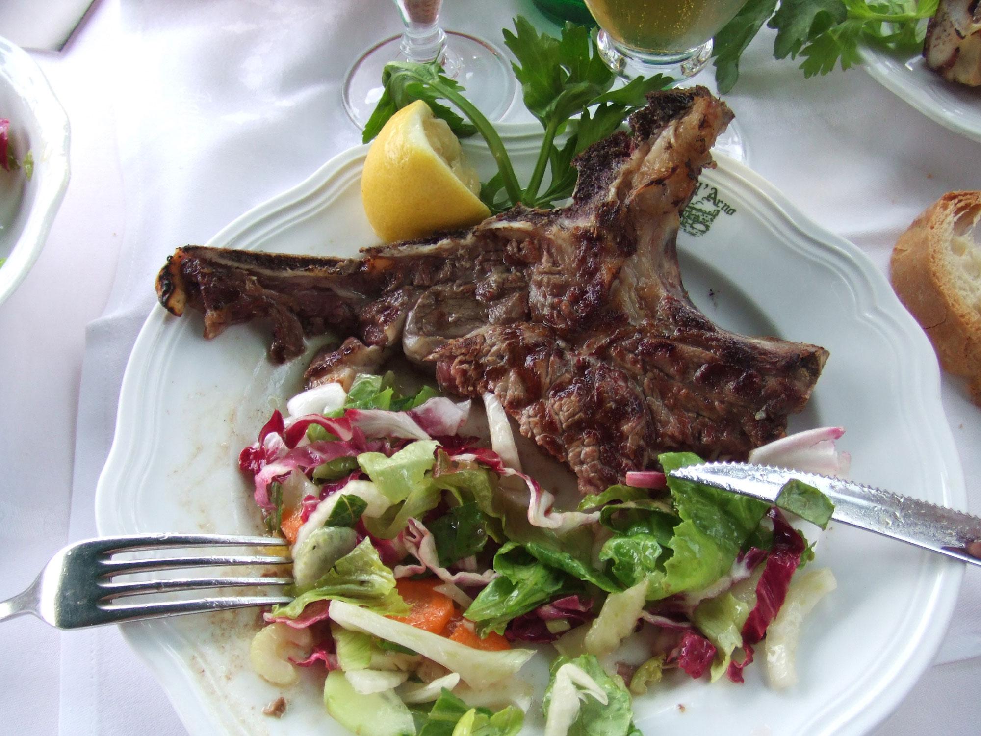 Bistecca Fiorentina Florentine Steak Florence Italy