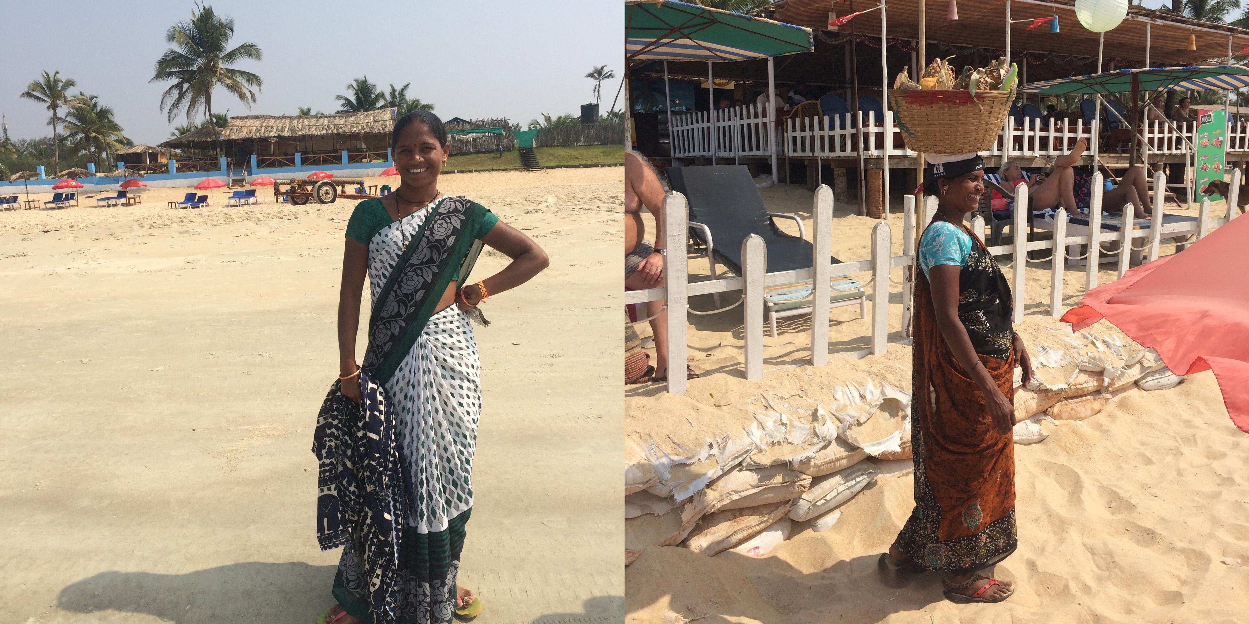 Goa beach, locals
