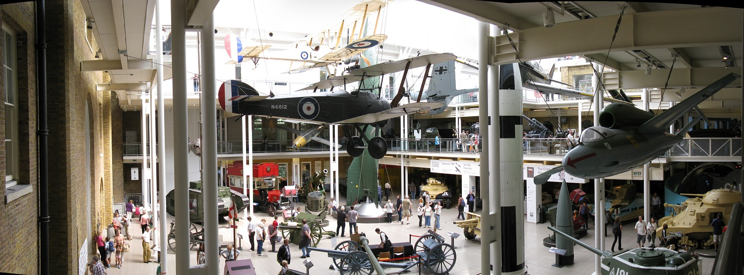 Imperial war museum atrium panorama inside london United Kingdom