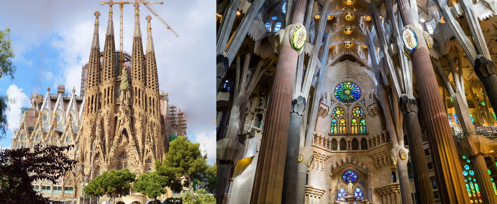 La Sagrada by Gaudi, Barcelona, Spain