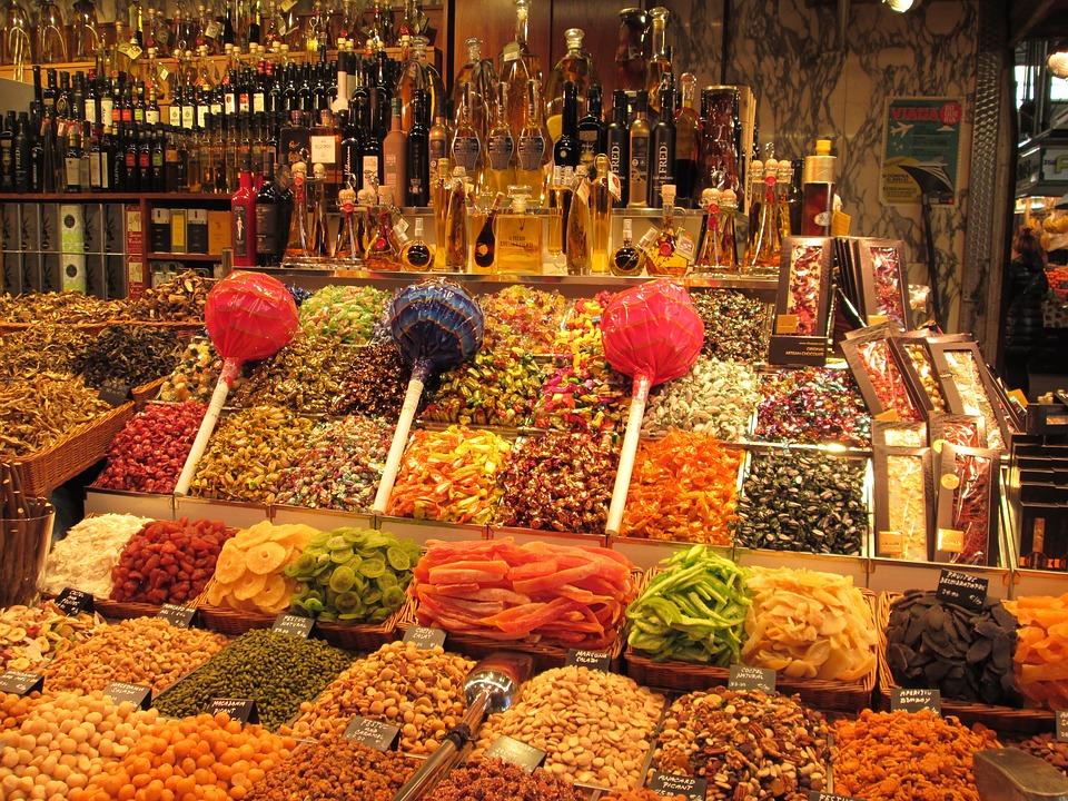 Mercat de la Boqueria, Barcelona, Spain