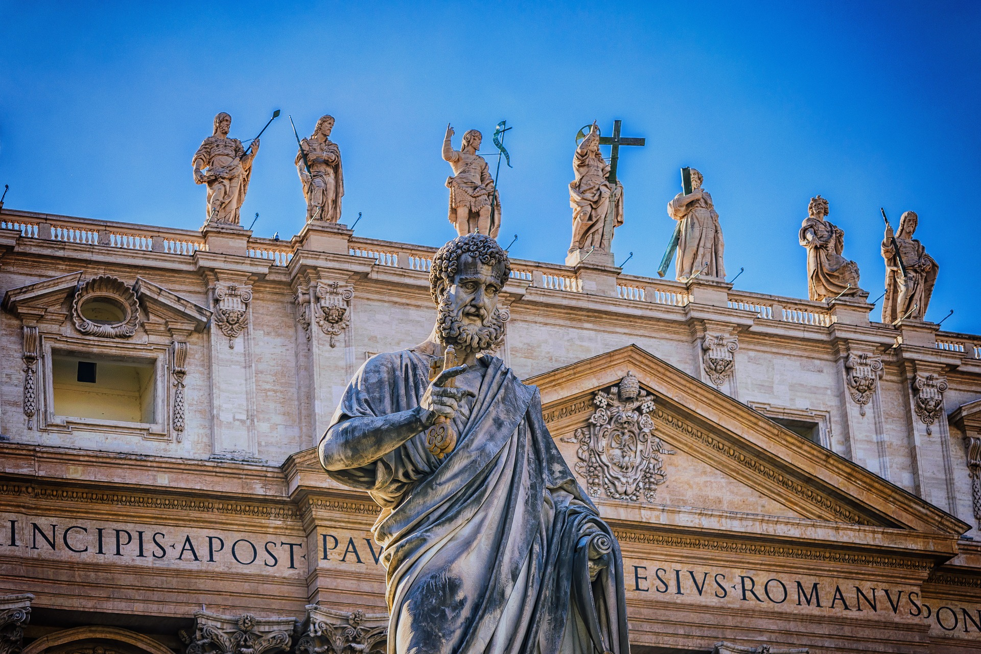 apostle st peter's basilica rome italy