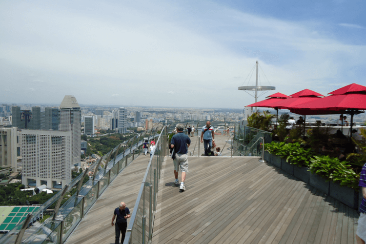 Esplanade Roof Terrace over Sands SkyPark Singapore