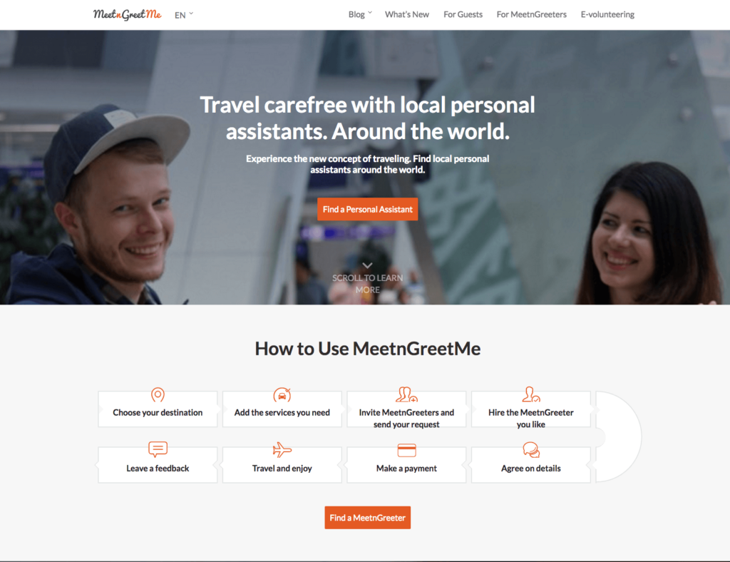 MeetnGreetMe travel concierge services won WSA UN award