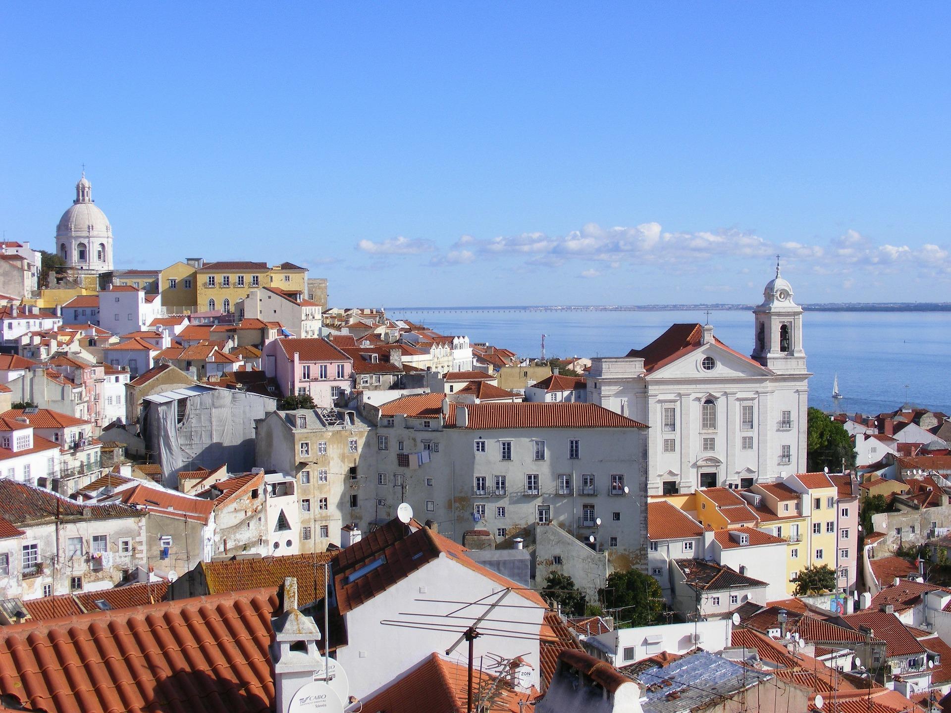 alfama lisbon portugal historical district