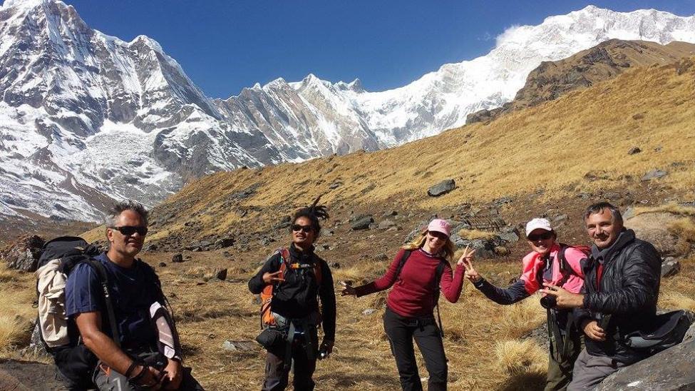 Annapurna Base Camp Trek in Nepal, mountains