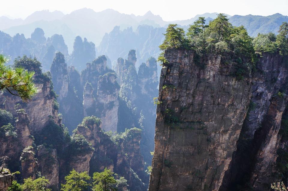 china zhangjiajie national park cliffs