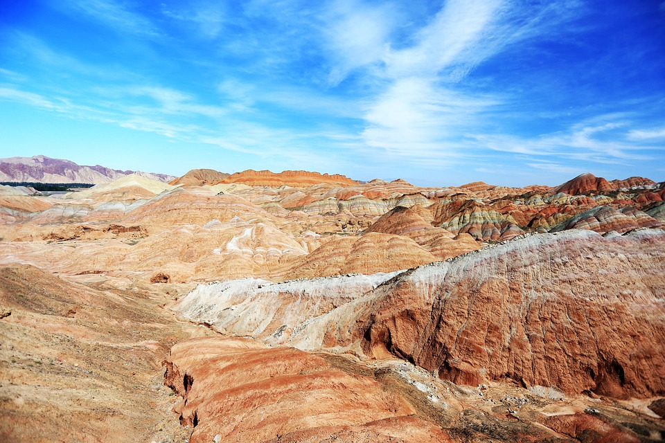 colorful Zhangye landscape in China