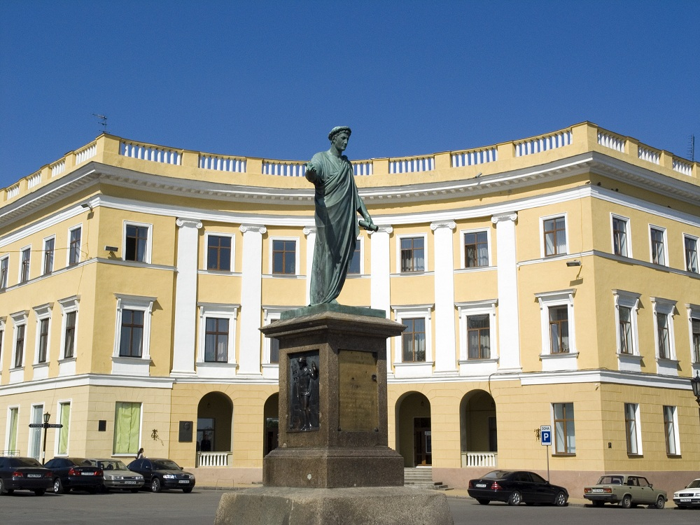 The Statue of Duc de Richelieu in Odessa ukraine
