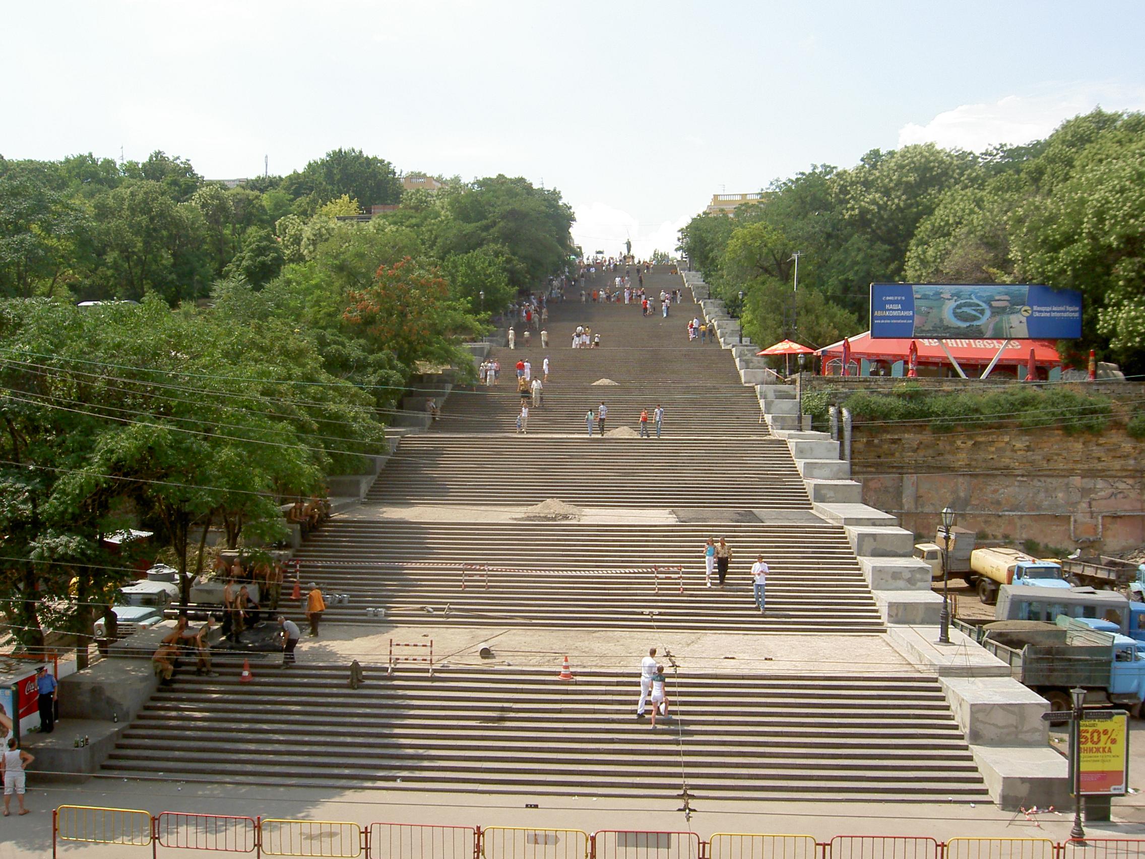 potemkin stairs steps odessa ukraine travel