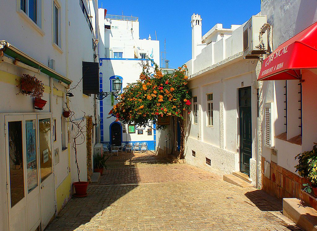 old town in albufeira portugal