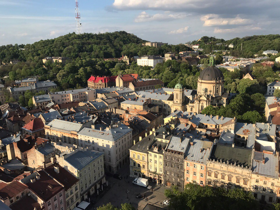 Lviv view from the town hall