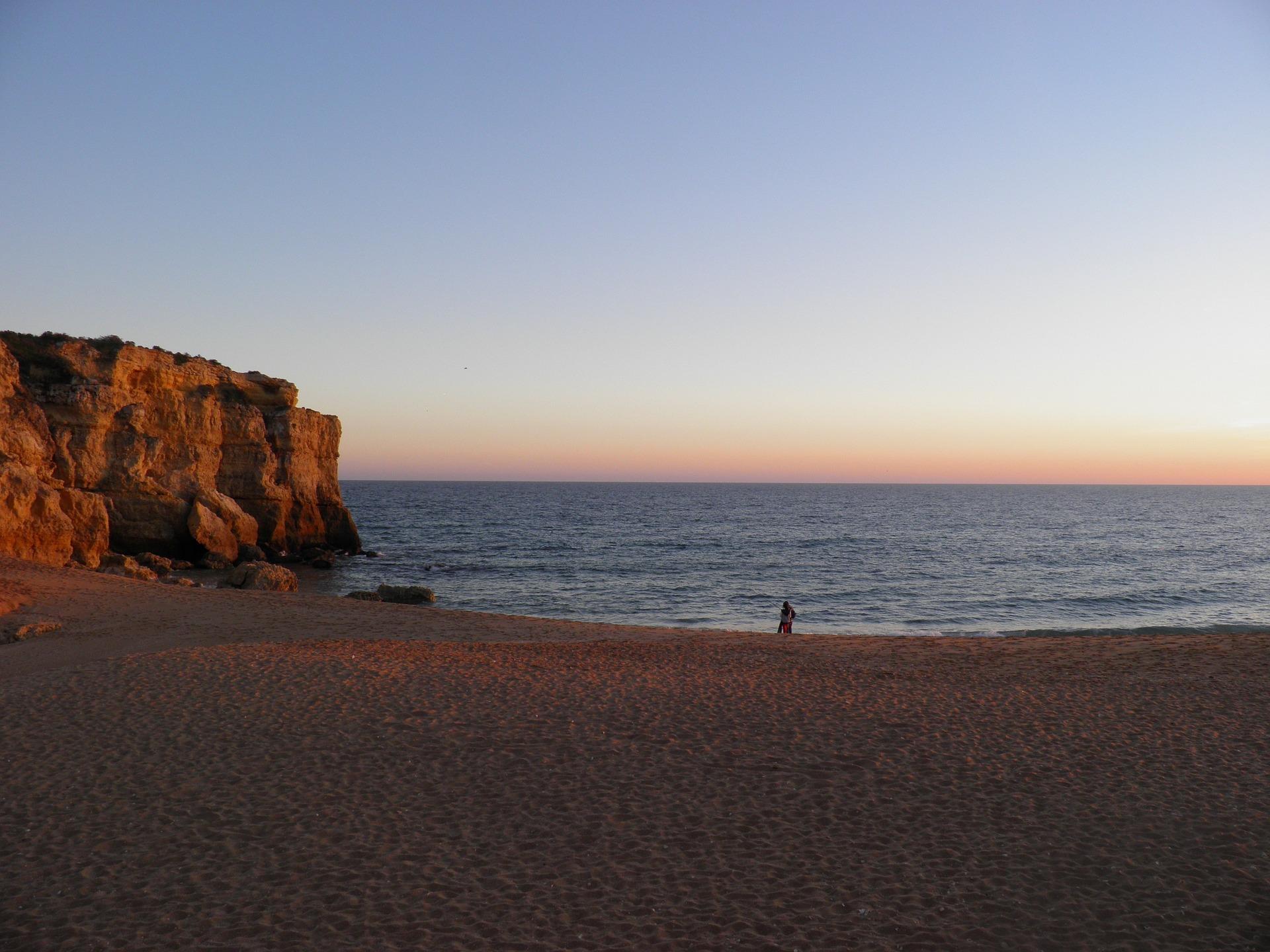 beach in albufeira portugal sea resort