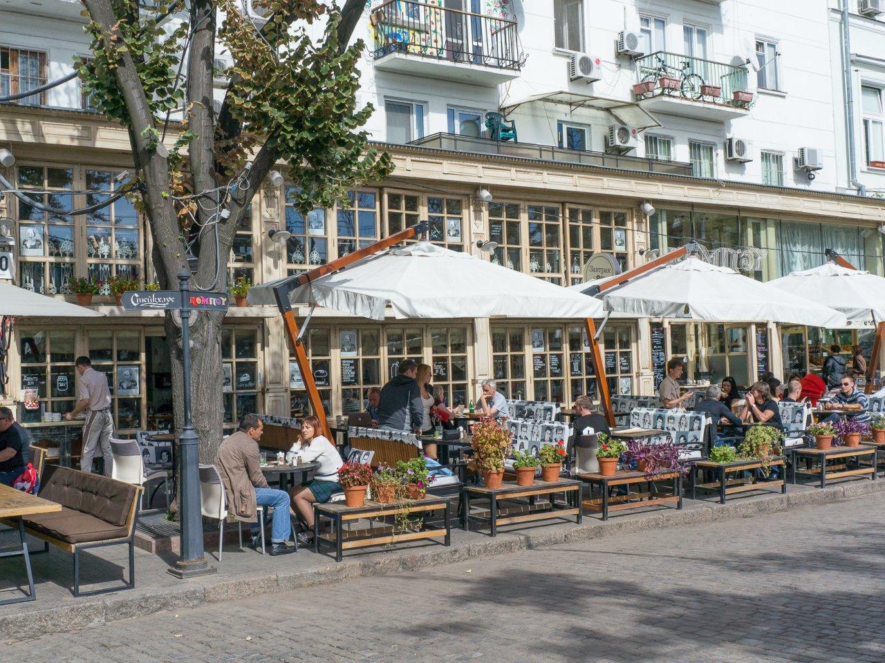 deribasovskaya street odessa kompot restaurant