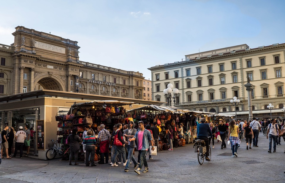 Florence, Italy (Firenze) - outdoor market