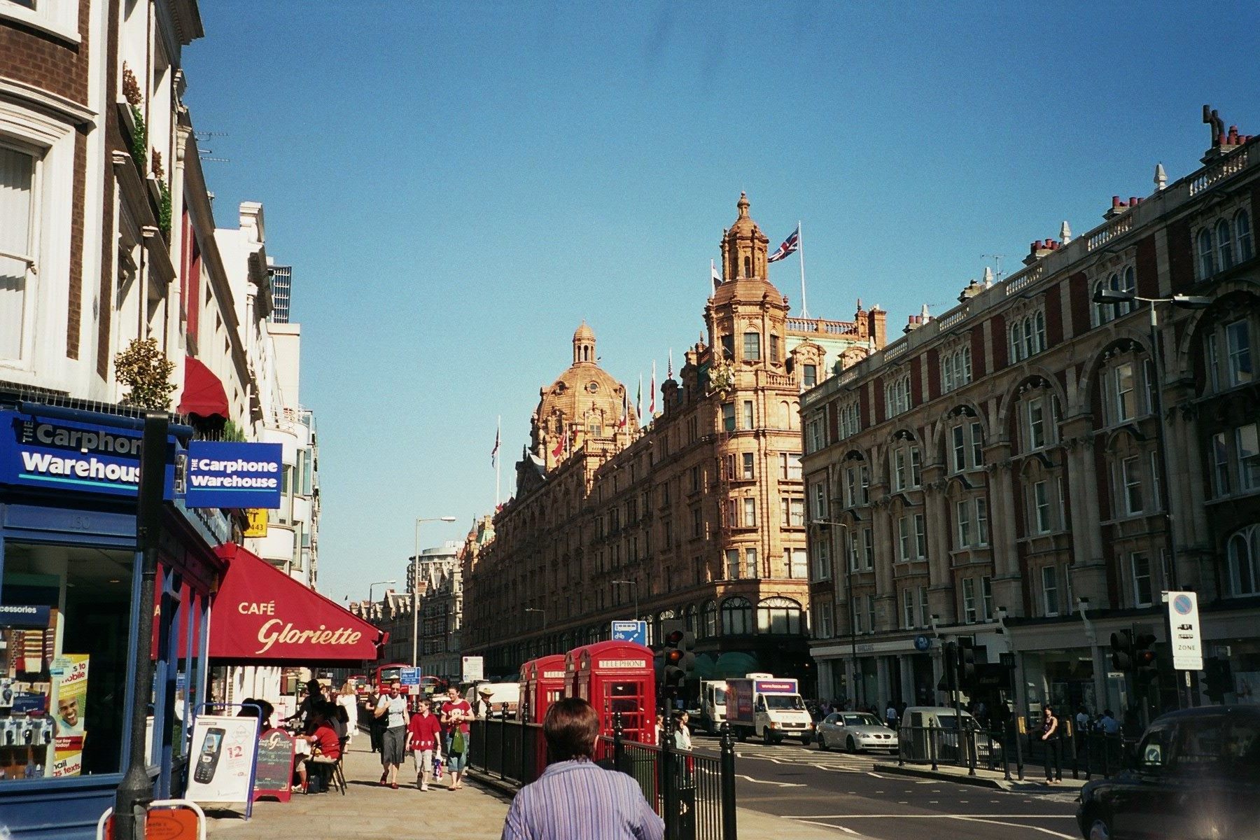 Knightsbridge shopping in london