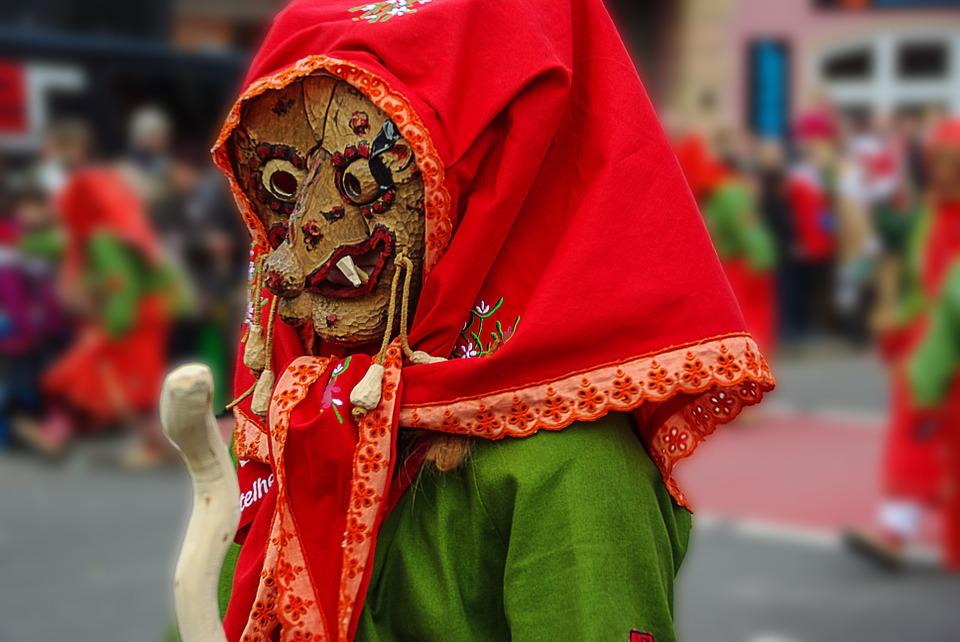 La Befana at the Carnival in Italy