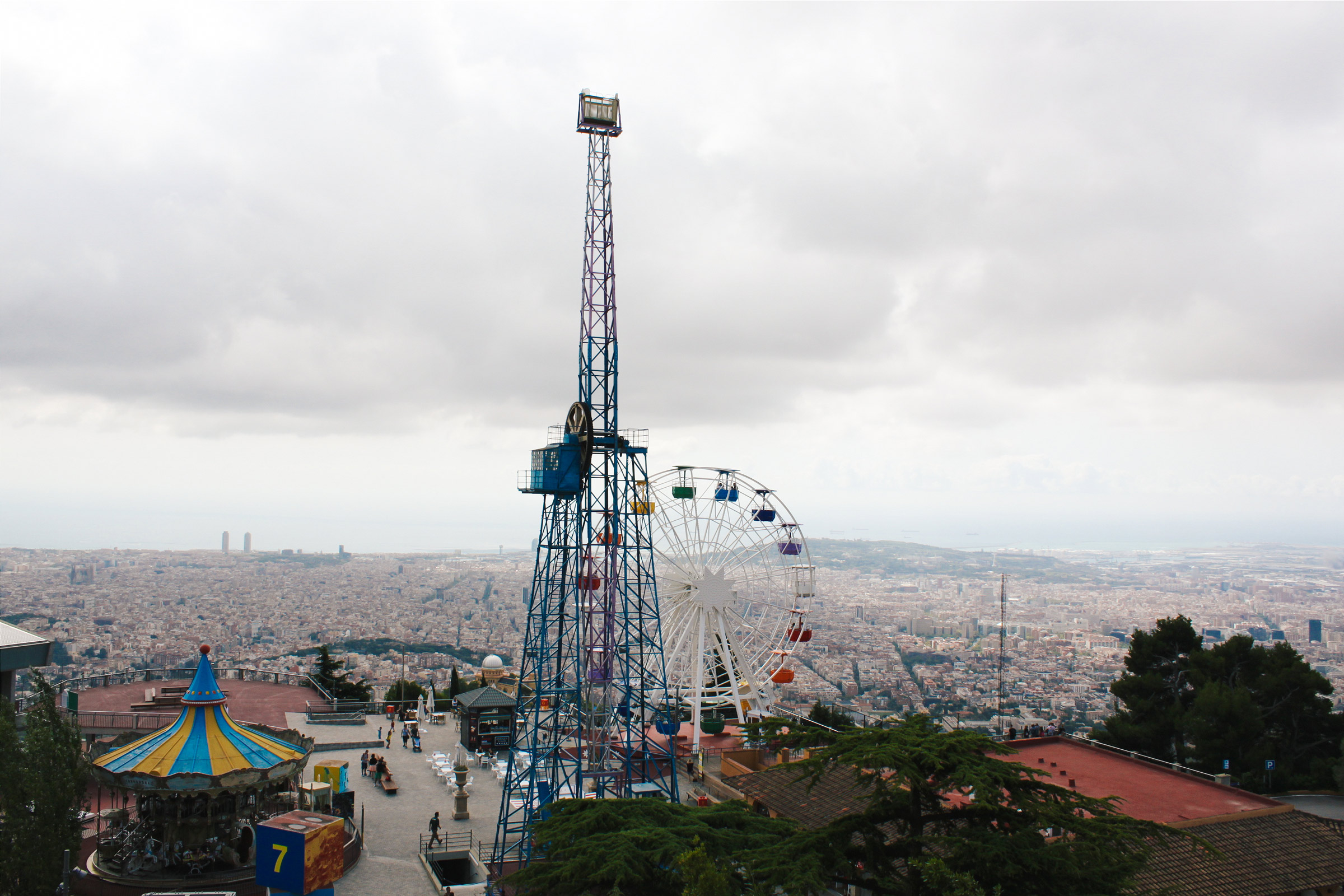 Tibidaho Amusement Park in Barcelona, Spain