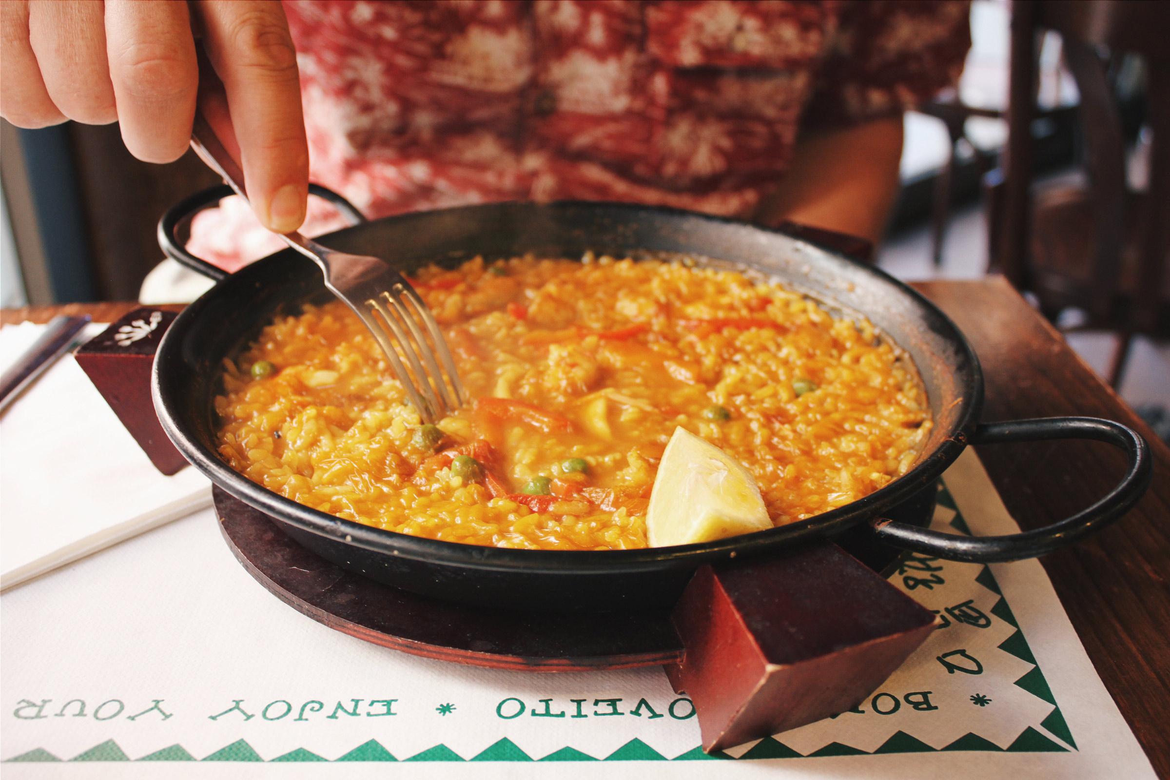 Paella Spanish cuisine