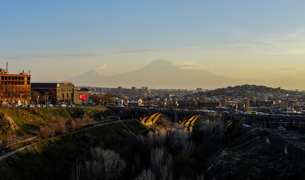 bridge in yerevan armenia