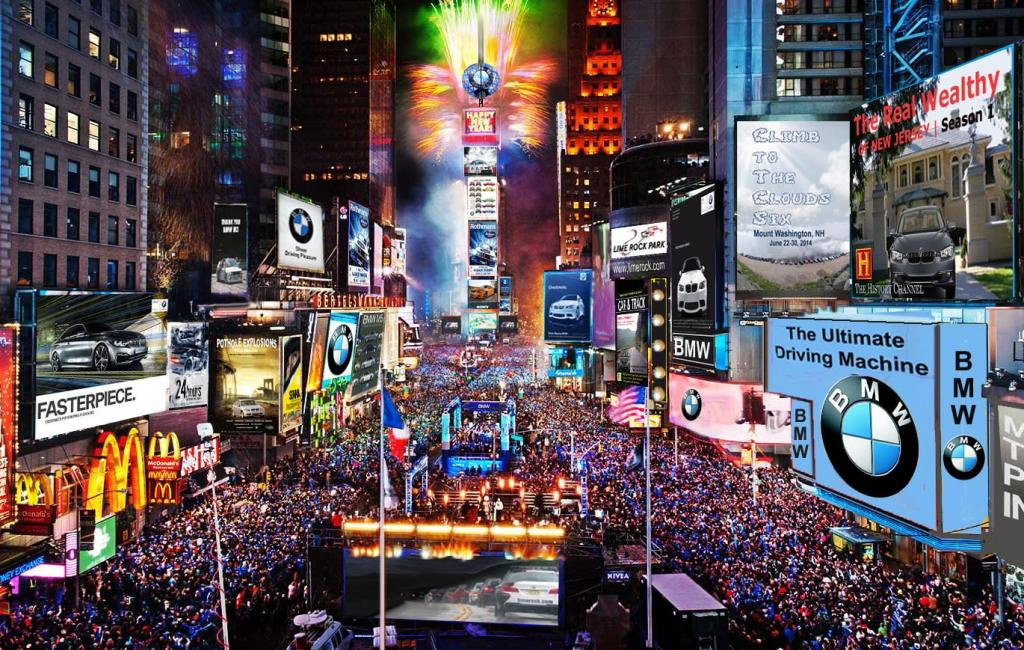 New Year in New York. Ball drop