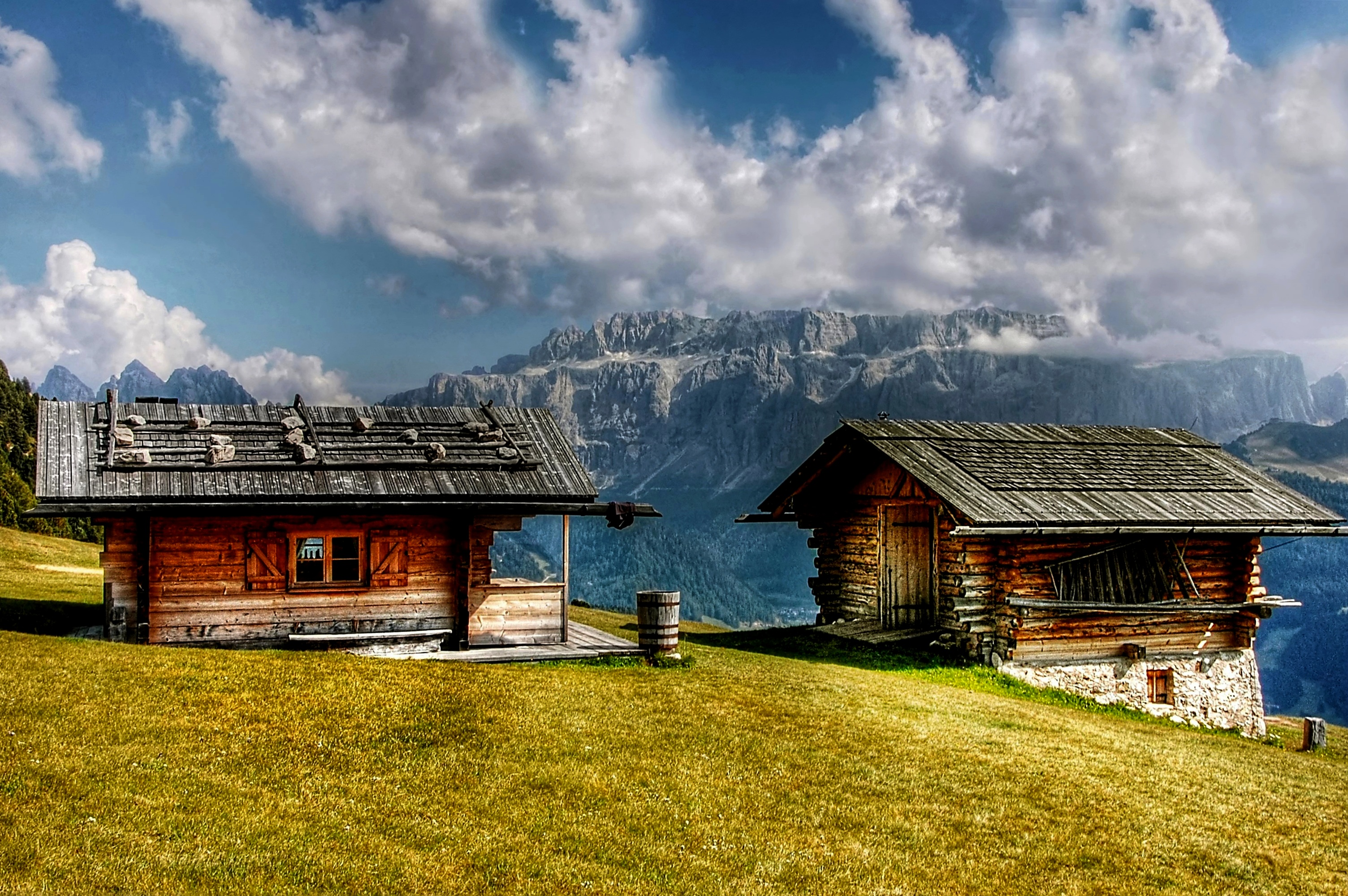 chalet in mountains - staycation. travel trends 2018