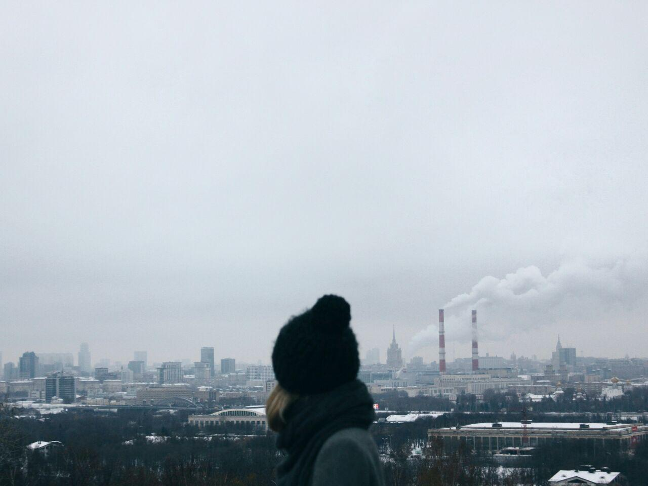 Moscow, Russia in winter - snow