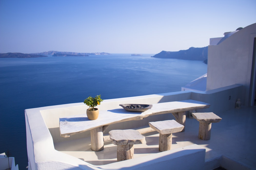 Oia, Greece, travel, sea