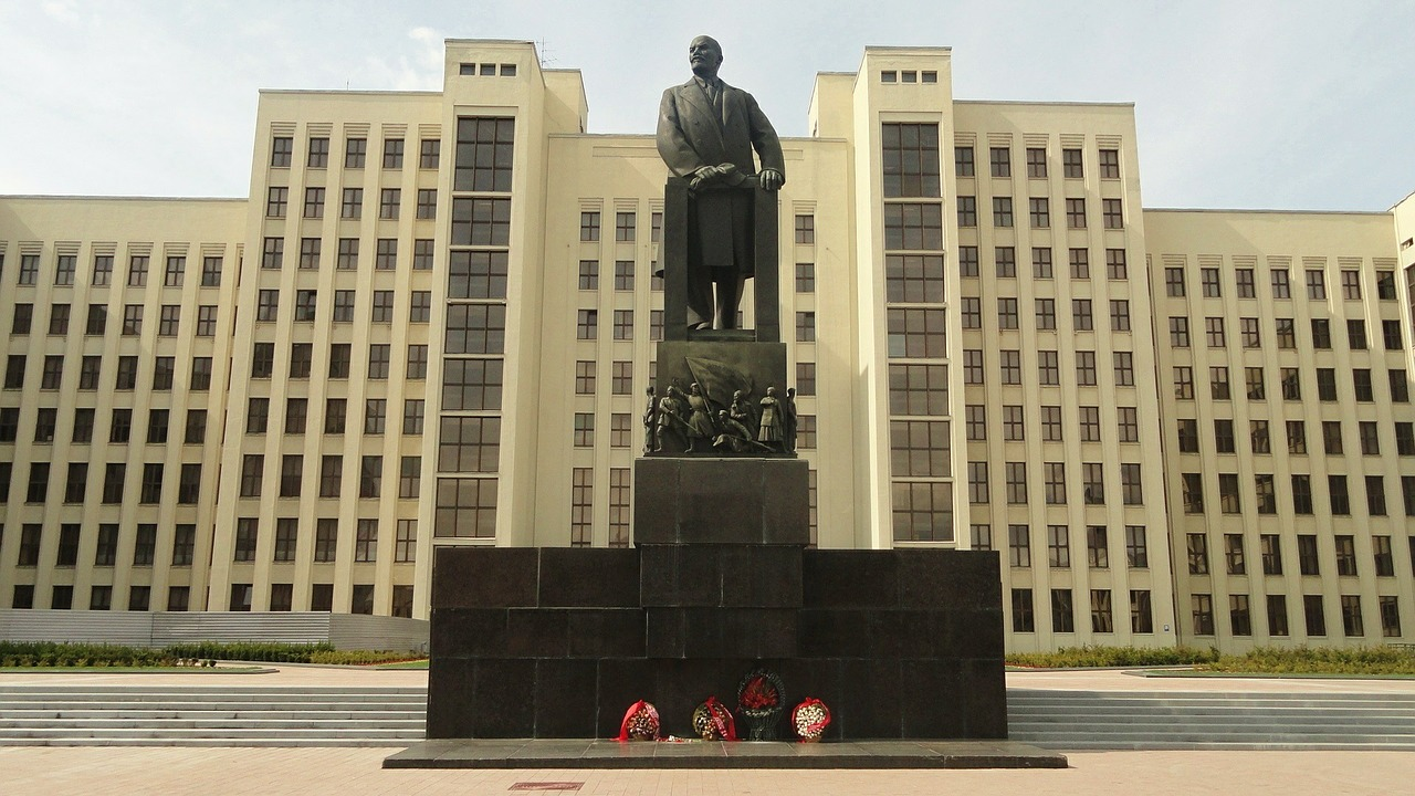 Lenin, communism, belarus, minsk, square