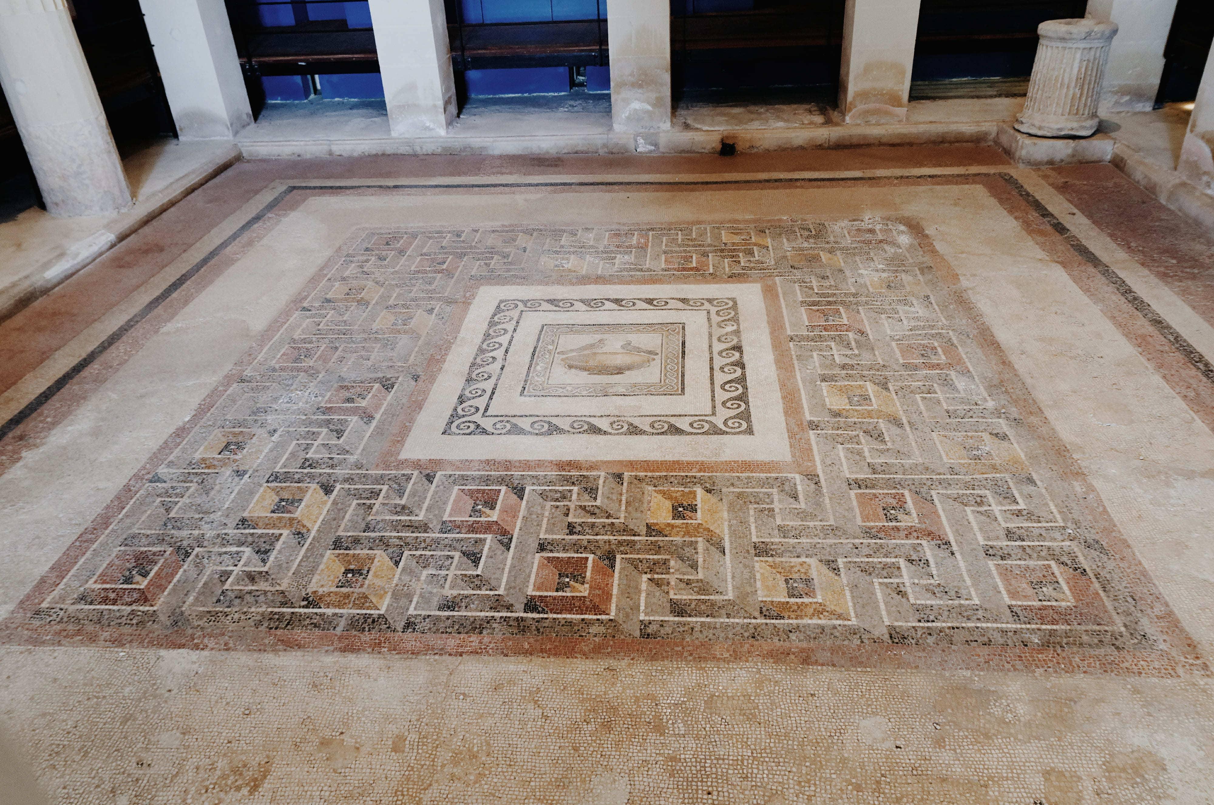 Le Domus Romane di Palazzo Valentini, mosaics, travel, Rome