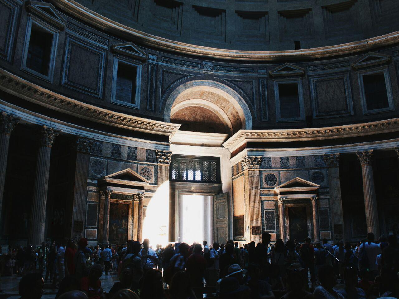 Pantheon, Rome, Italy, tourists