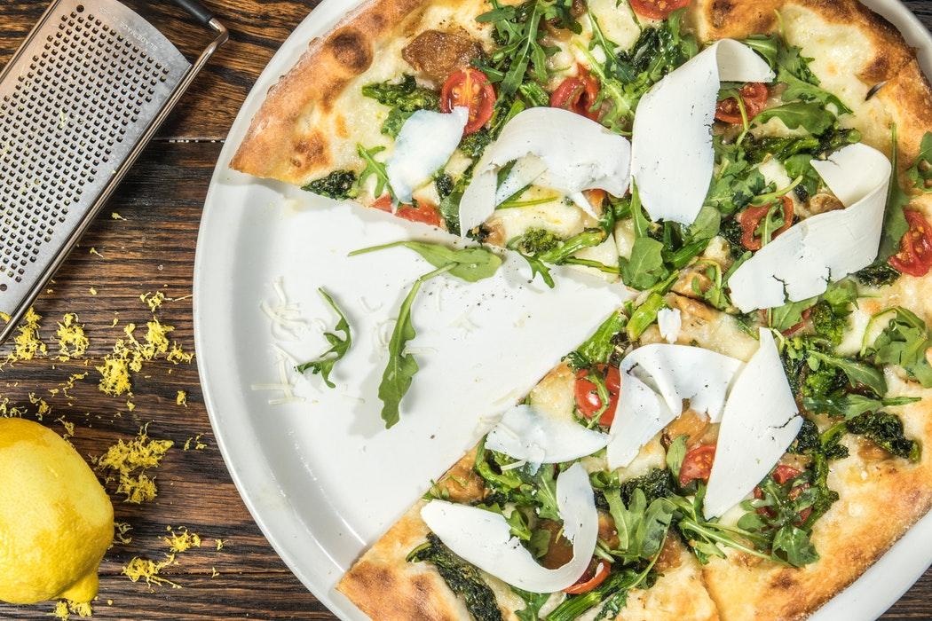 Rustic pizza, tomatoe, mozzarella, rome, italy