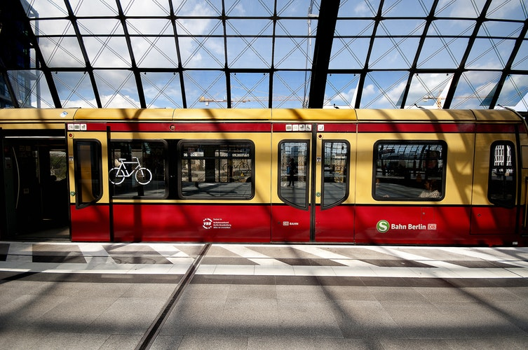 Train, train station, S Bahn, Germany, Berlin