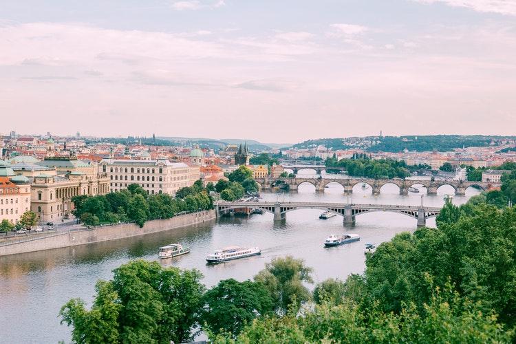 Travel, Czech Republic, View on Praga