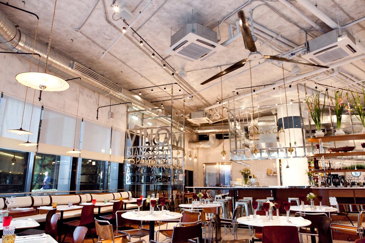 Osteria Bianca interior, Restaurant, Moscow