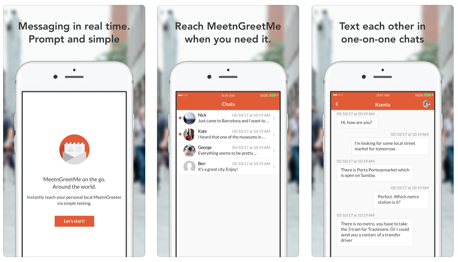 MeetnGreetMe messenger for iOS and Android