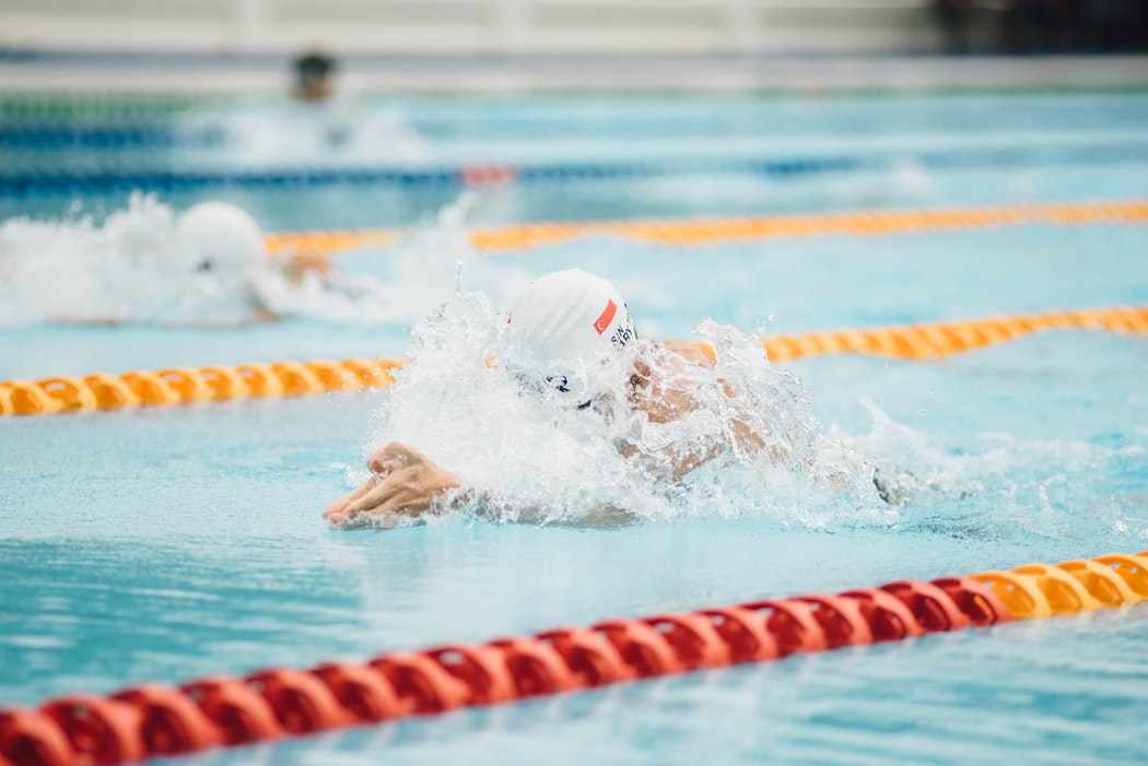 Swimmer, swimming pool, sport