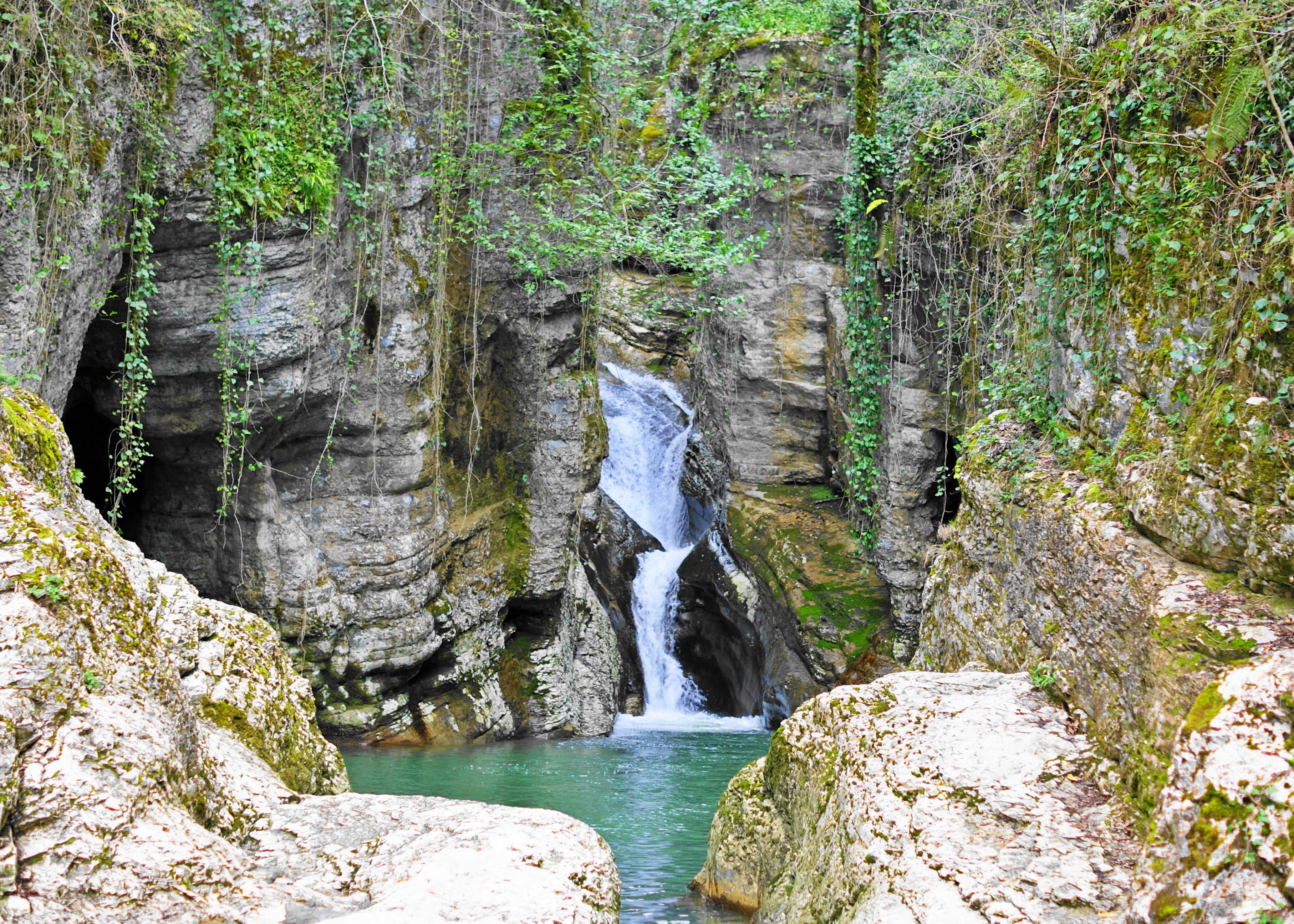 Agura Waterfalls near Sochi, Russia