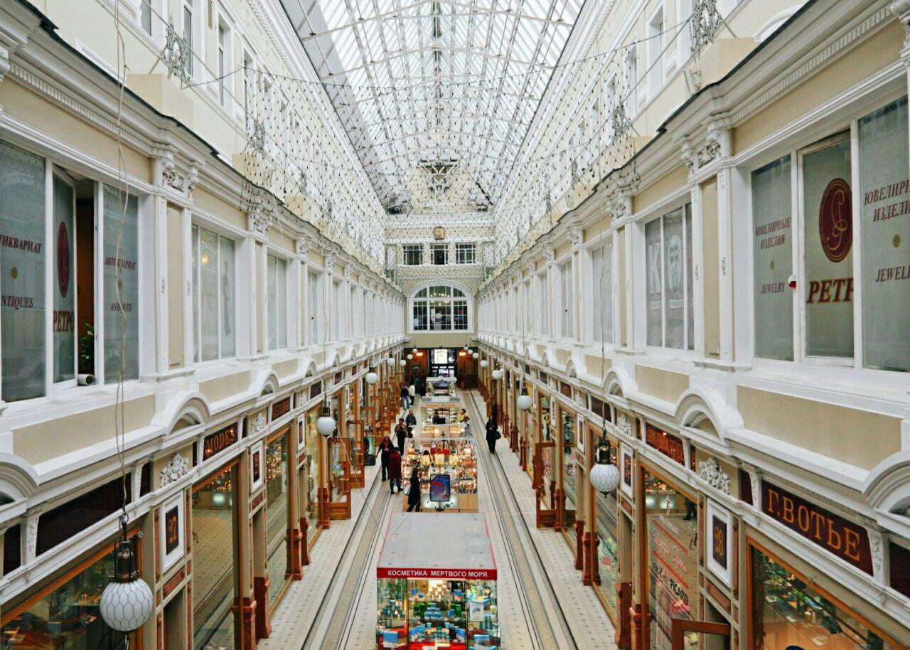 Inside the Passage in Saint Petersburg
