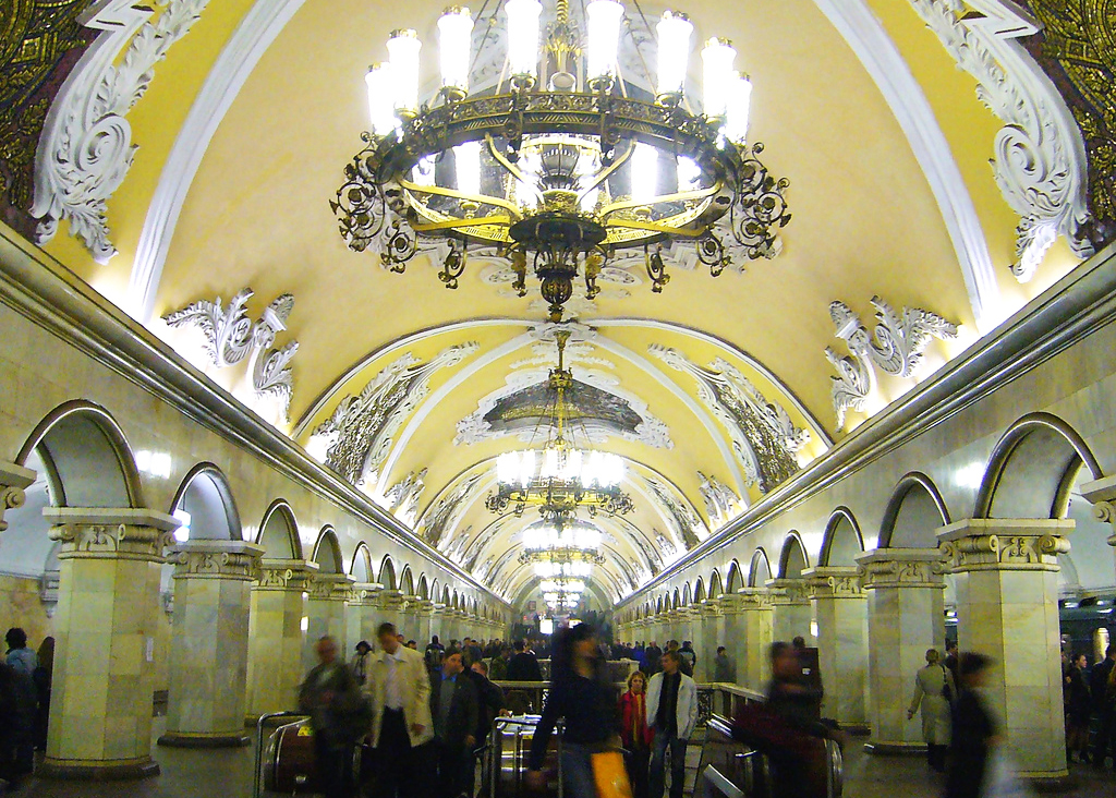 Metro interior, Moscow, Russia