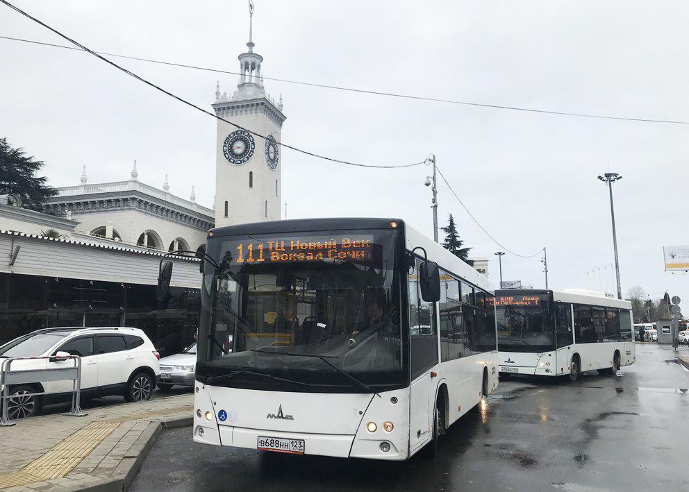 Bus, Sochi, Novy Vek Station