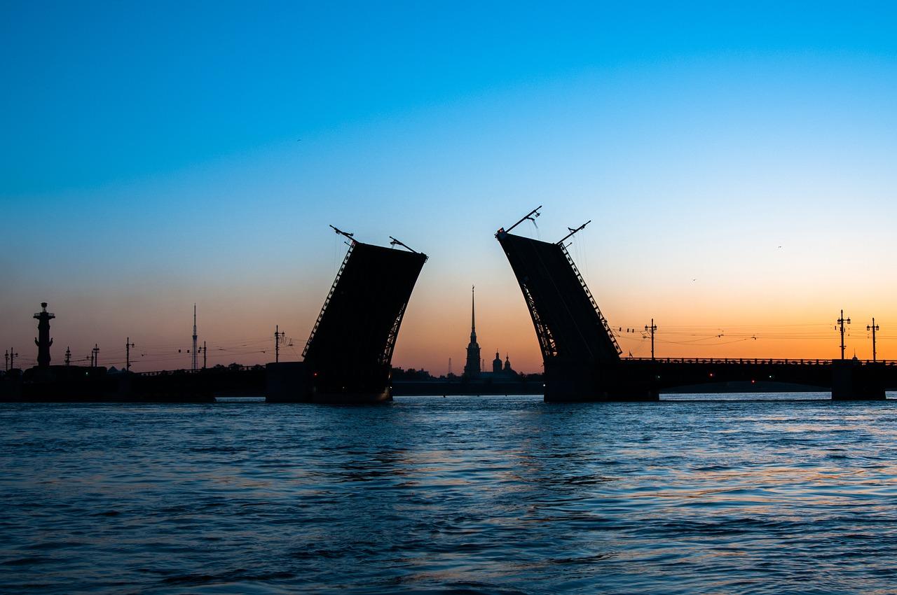 Saint Petersburg, White Night, Bridge, World Cup