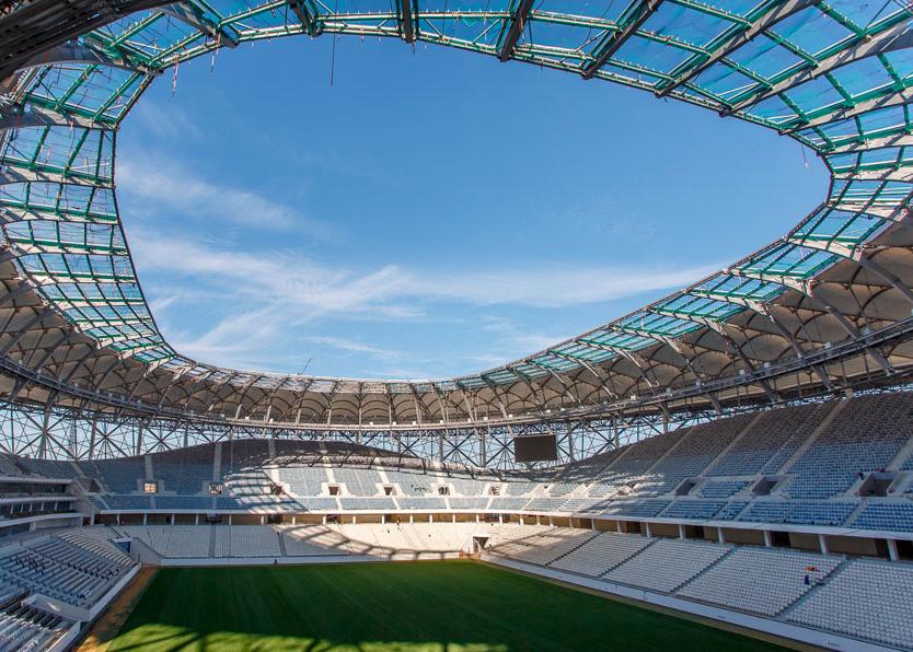 Inside the volgograd arena stadium