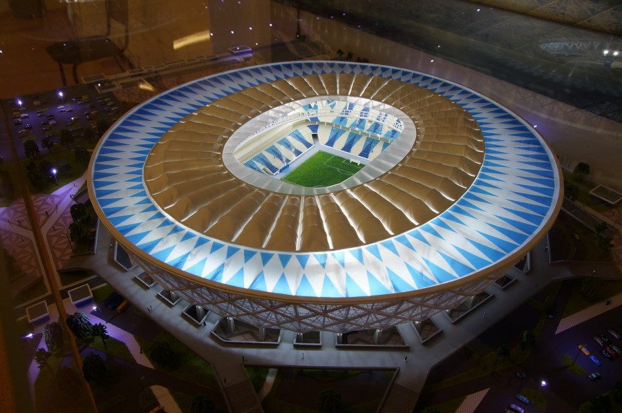 Scale model of Volgograd Arena